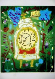 女の子:時計を描こう