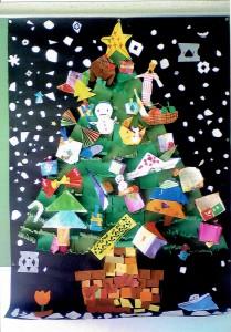 男の子・女の子:クリスマスツリー共同制作