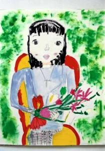 女の子:人物画