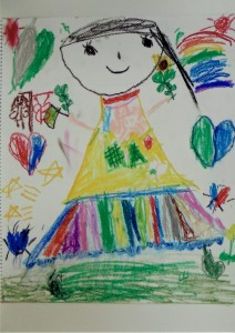 女の子:自由画