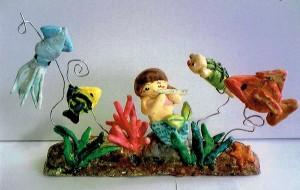 女の子:海のジオラマ