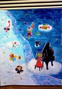 女の子:楽器を弾く人